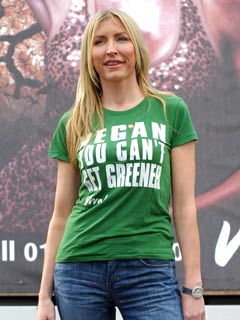 Heather Mills shows off her green side