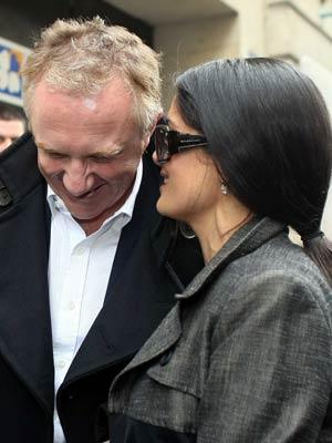 Salma Hayek |  Salma Hayek stays close to her man  Pictures | Now Magazine | Celebrity Gossip