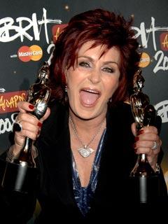 Sharon Osbourne shows her delight