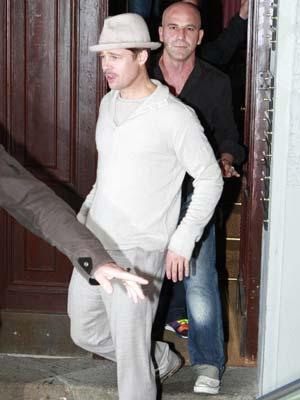 Brad Pitt looks pale