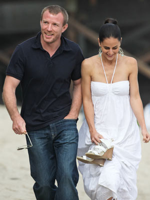 Guy Ritchie and mystery woman   Guy Ritchie and mystery woman at Malibu beach   Now Magazine   Celebrity Gossip