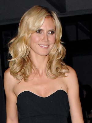Heidi Klum goes for the tousled look