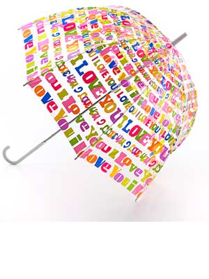 Lulu Guiness|umbrella|now magazine|desigener|rainy day|Ilove you|