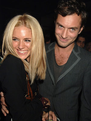 Jude Law and Sienna Miller in happier times