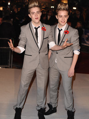 John and Edward Grimes | X Factor stars John and Edward Grimes at the A Christmas Carol premiere in London | Now Magazine | Celebrity Gossip | TV News | Pictures
