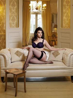 Cyrstal Renn stars in Now's Valentine's underwear photo shoot