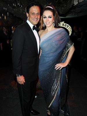 Pic Liz Hurley Exposes Boobs In Sheer Sari Celebsnow