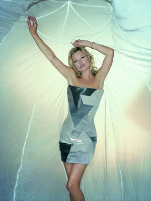 Kate Moss models mosquito net dress | pictures | now magazine | celebrity gossip