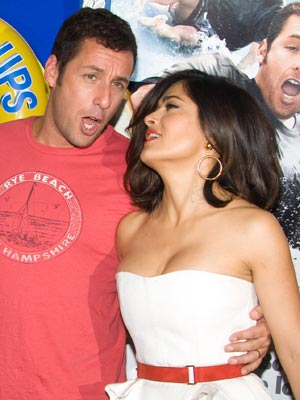 Adam Sandler and Salma Hayek | Celebrity Spy | Pictures | Photos | Latest | Celebrity gossip