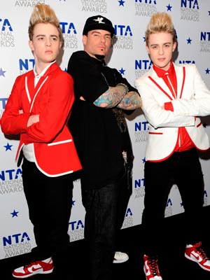 John & Edward Grimes and Vanilla Ice: | National TV Awards 2010 | Pictures | Soap stars |