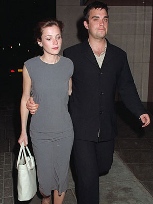 Robbie Williams and Anna Friel