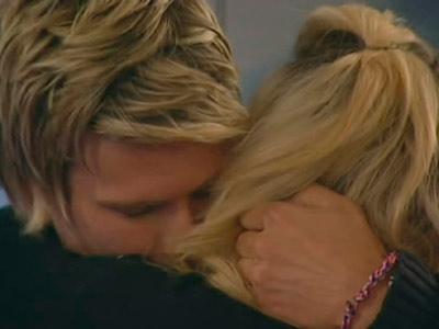 Josie Gibson and John James | Big Brother | Embrace | Kiss | Celebrity gossip