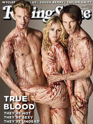 True Blood | naked | pictures | now magazine| Stephen Moyer| Anna Paquin| Alexander Skarsgård |