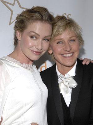 Ellen DeGeneres and lesbian lover Portia de Rossi