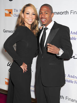 Mariah Carey and Nick Cannon share cheesy grins