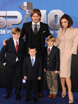 Victoria and David Beckham take the kids to BBC Sports Personality Of The Year Awards |