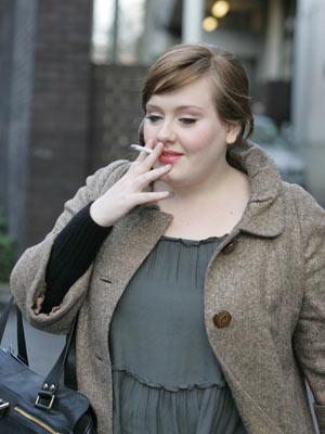 Celebrity smoker: Adele