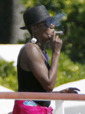 Celebrity Smokers | Grace Jones | Pictures | Now Magazine | Celebrity Gossip