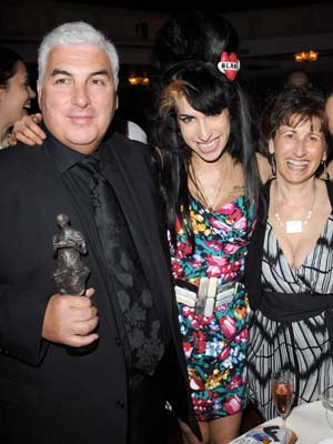 Amy Winehouse and parents Mitch and Janis