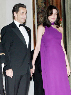 Carla Bruni and French President husband Nicolas Sarkozy