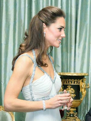 Kate Middleton | demi chignon