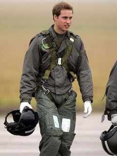 Prince William get prepared for take-off