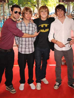 The Dark Knight UK premiere: The McFly boys show their support