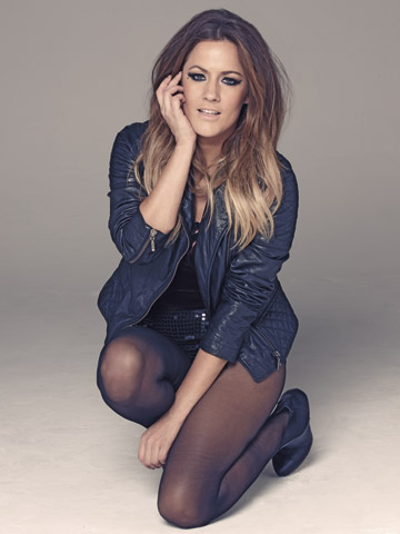 Caroline Flack | Exclusive | Black stockings | Now magazine | New pictures