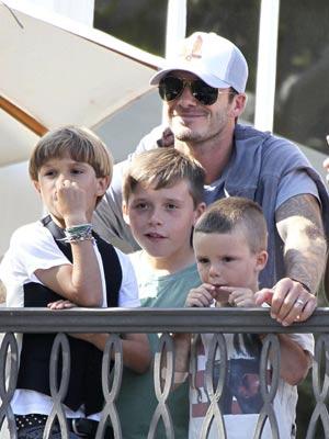 Romeo Beckham, Brooklyn Beckham, David Beckham and Cruz Beckham   Celebrity news   Gallery   Pics   Celebrity pictures
