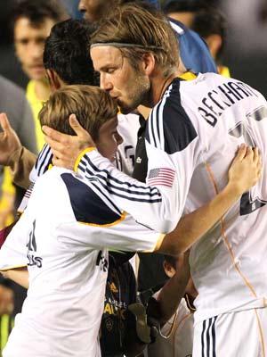 David Beckham and Brooklyn Beckham | Celebrity Spy 8 - 19 October 2011 | Pictures | Photos | New | Celebrity News