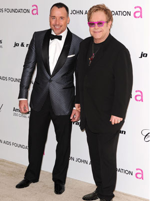 David Furnish and Elton John | Oscars 2011: The parties | Oscars | Pictures | Photos | New