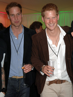 Prince Harry and Prince William relax