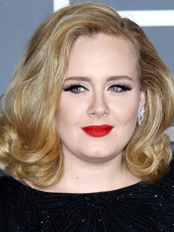 Adele | Celebrity hair at the Grammys 2012 | Pictures | Photos | New | Celebrity News