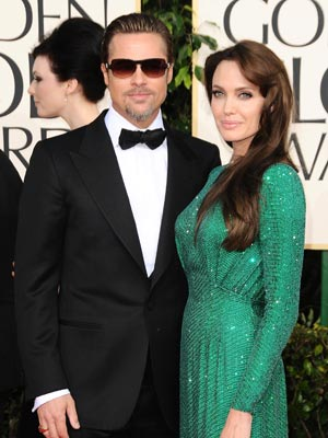 Angelina Jolie and Brad Pitt   Golden Globes   Pictures   Photos   New   LA