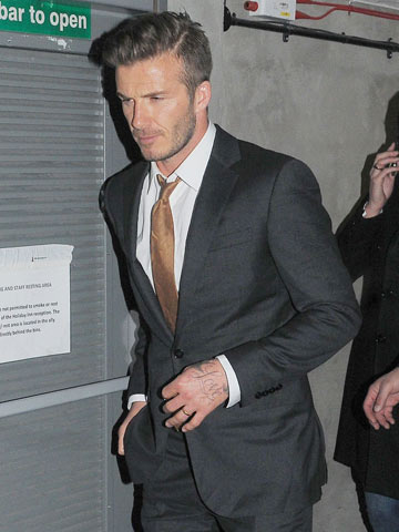 Prince Harry Sports Cut Nose On London Night Out With David - Quiff hairstyle david beckham