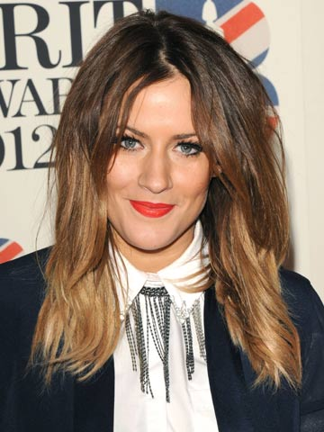 Caroline Flack | Celebrity hair at the Brit Awards 2012 | Pictures | Photos | New | Celebrity News
