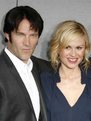 Stephen Moyer and Anna Paquin | Stephen Moyer and Anna Paquin at the True Blood season premiere in LA | Now Magazine | Celebrity Gossip | US News