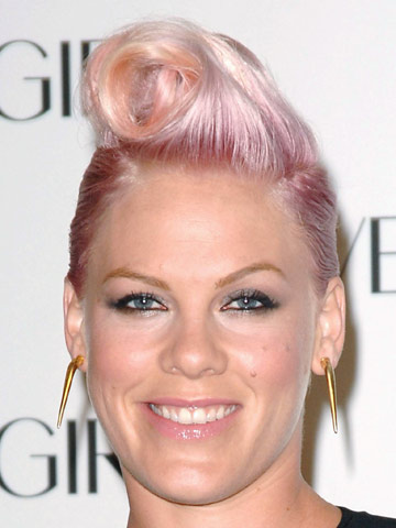 Pink | Celebrity hair | Pictures | New styles | Latest | Hair | Now | Photos | Hairstyles