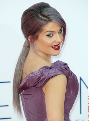 Now magazine | celebrity gossip | Hair news | Kelly Osbourne | Purple Hair