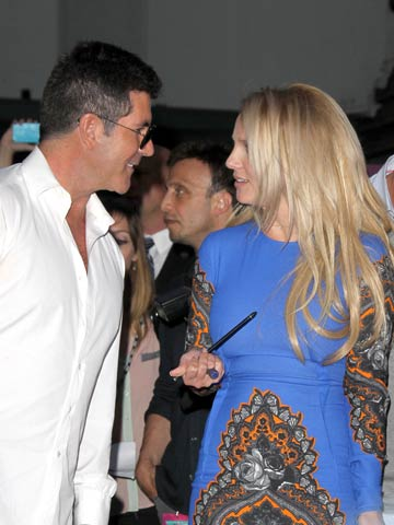 Simon Cowell and Britney Spears   The X Factor USA   Pictures   Photos   new   Celebrity News