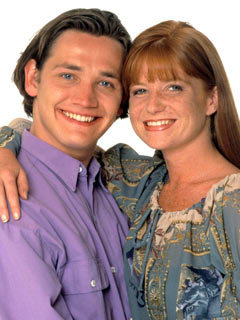 EastEnders stars Patsy Palmer and Sid Owen, AKA Bianca and Ricky