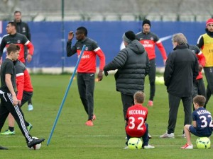 Brooklyn, Cruz and Romeo Beckham | Paris Saint-Germain FC | Pictures | Photos | New | Celebrity News