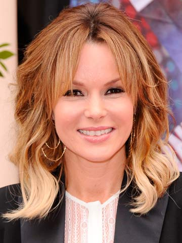 Amanda Holden | Ombre hair color for a shag style with layers