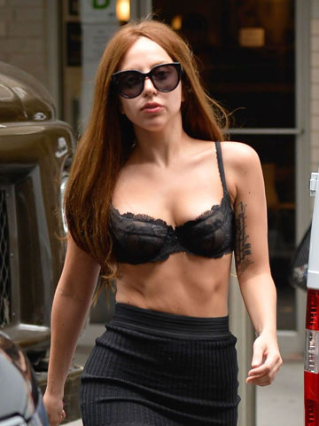 Omg Lady Gaga Goes For Dinner Nearly Naked In Underwear