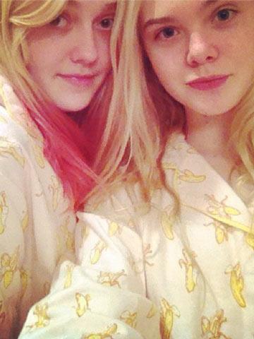 Hello Instagram world! Sisters Elle and Dakota Fanning ...
