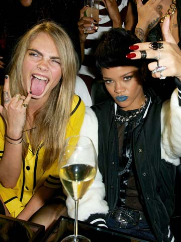 Rihanna Miley Cyrus And Cara Delevingne Are Disgraceful