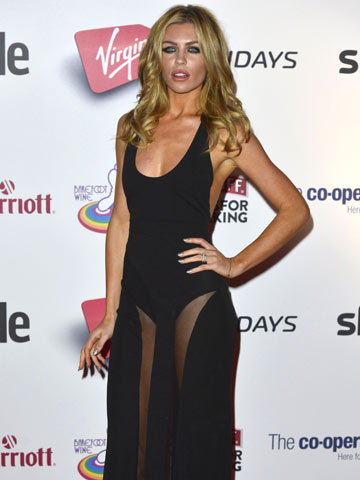 Abbey Clancy Looks Gorgeous In Sexy See Through Black Julien