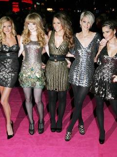 Girls Aloud shine in short dresses