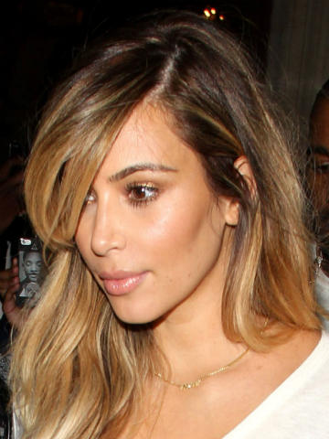 Family First Kim Kardashian Pouts And Shows Off Blonde