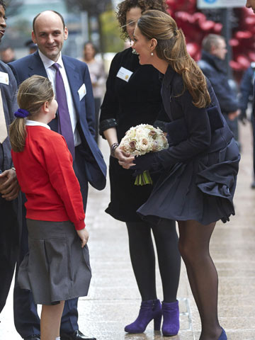 oops kate middleton almost flashes her knickers in navy